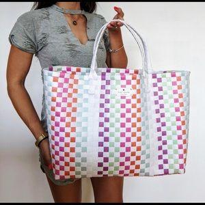 KATE SPADE woven multi color bag tote